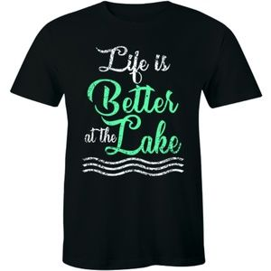 Life Is Better At The Lake Cottage Fishing T-shirt